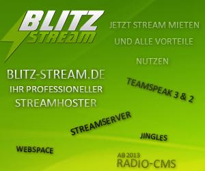 Blitz Stream - der Streamhoster für das eigene Webradio